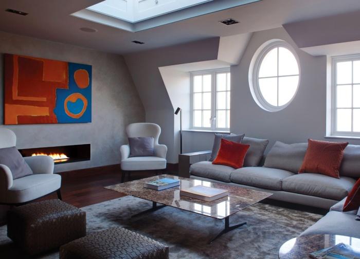 Сучасний дизайн інтер'єрів двоповерхового пентхауза в Лондоні від Staffan Tollgard Design Group