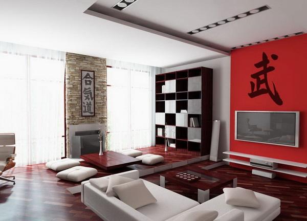 Красивий дизайн інтер'єру вітальні.